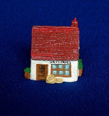 Thimble - Hand Painted Pewter - Village Grocery Store