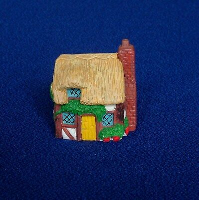 Thimble - Hand Painted Pewter - Thatched Cottage