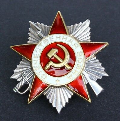 Soviet Russian WWII Order of the Great Patriotic War II class, #6163845 Silver