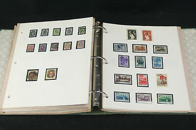 Large Packed WW Stamp Album Pages Collection Ajman, Guinea, Early Russia ++