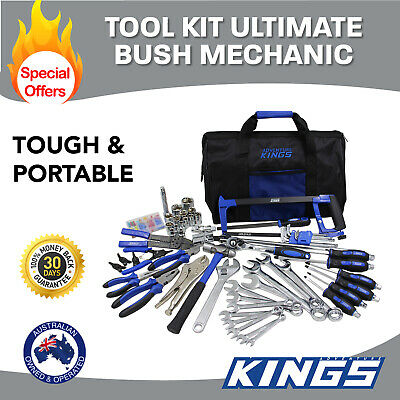 Garage Tool Kit Mechanic 150PCS Universal Bush Adventure Kings