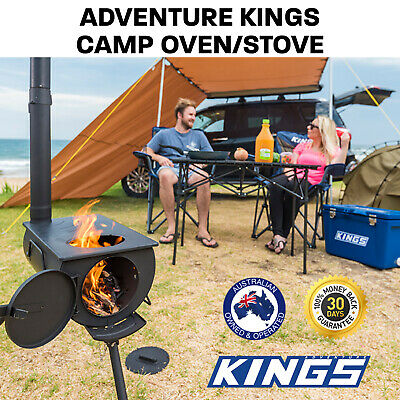 New Portable Camp Oven Stove Long Chimney Parks Picnic Outdoor Camping Cooking