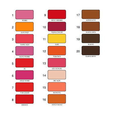 Fabric Dye - Permanent Machine Paint - Tint Laundry - Color Numbers: 1 to 20