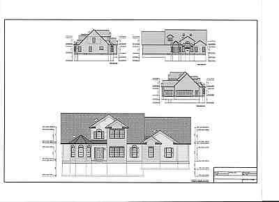 Full Set of two story 3 bedroom house plans 2,310 sq ft