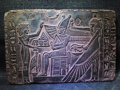 EGYPTIAN ANTIQUE ANTIQUITIES Resurrection Of Osiris Stela Relief 2686-2181 BCE