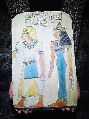 EGYPTIAN ANTIQUE ANTIQUITIES Princess Sedet And Nerb Stela Relief 4748-4556 BC