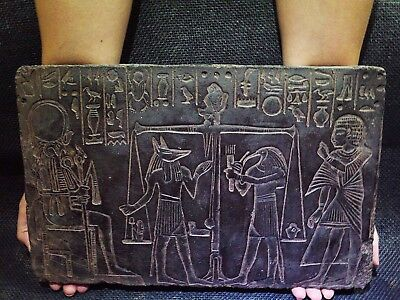 EGYPTIAN ANTIQUE ANTIQUITIES Afterlife Judgement Stela Relief 1285-1251 BCE