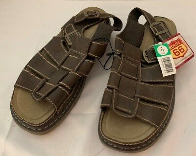 c76556632083 SHOES ROUTE 66 WOMENS OPEN TOE SANDALS LEATHER NEW w  TAGS SIZE 11M