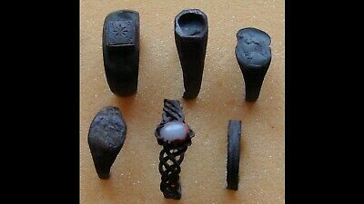Lot Of 6 Genuine Ancient Bronze Rings
