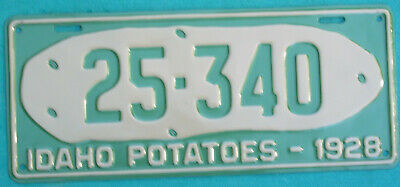 1928 Idaho  POTATOES REPAINT  license plate