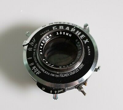 Graflex Optar 135mm f/4.7 lens in good condition (covers 4x5)