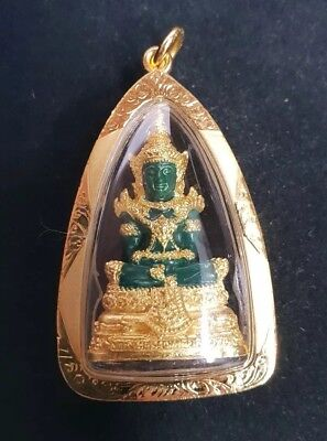 Original Temple Blessed Thai Amulet Emerald Buddha Strong Magic