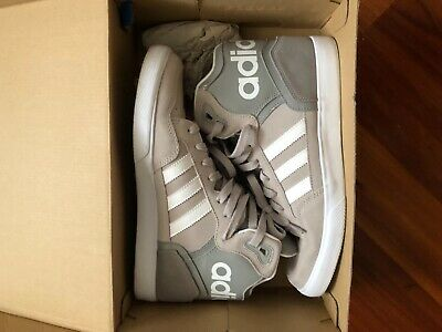 a12208d09 Adidas EXTABALL Hi-Top Sneakers Gray White Stripes Women s Size 9.5 Kicks