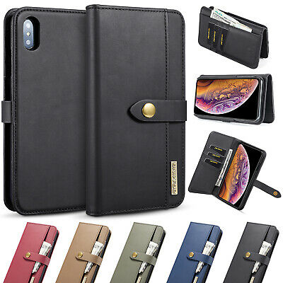 Removable Case Magnetic Flip Leather Wallet Phone Cover For iPhone XS XR XS Max