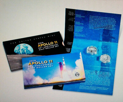 Apollo 11 50th Anniversary 2019 Proof Half Dollar Set-w/ Enhanced Rev PF Kennedy