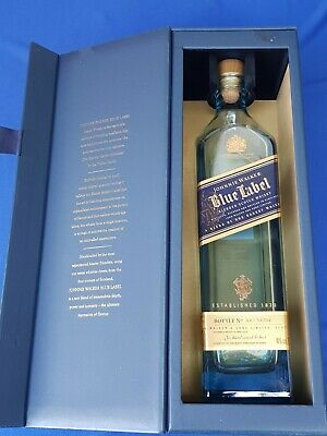 Johnnie Walker Blue Label Ltd. Ed. 750 ml Bottle and Box Only EMPTY No A1X 54704