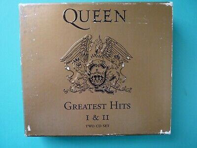 Queen - Greatest Hits I & II 2-CD Set with Booklet EUC