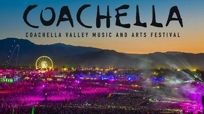 (2) Coachella 2019 Weekend Tickets - GA - 3 Day Pass with 2 Shuttle Passes