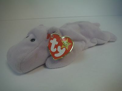 TY BEANIE BABIES Happy the Purple Hippo -  160.00  a02f1a0bd857