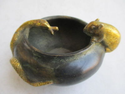 The ancient Chinese manual collection copper brush washer, snakes, mice c01
