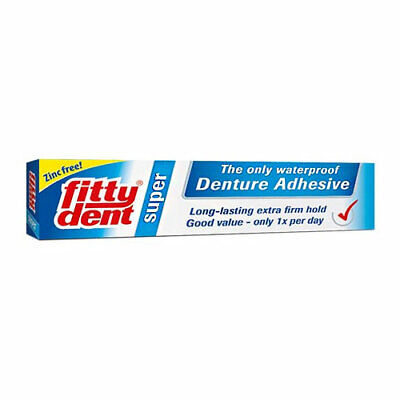 Fittydent Super Denture Adhesive 40G Waterproof Extra Firm Long Lasting Hold