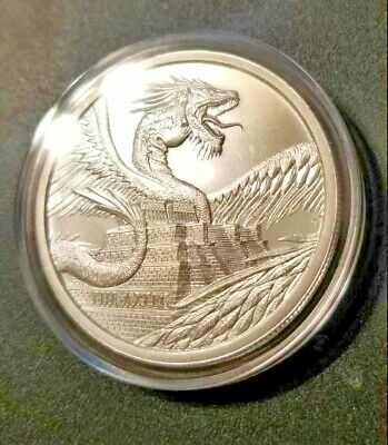 World of Dragons Aztec 1 oz. .999 fine silver - 1st of 6 in series - 30k mintage