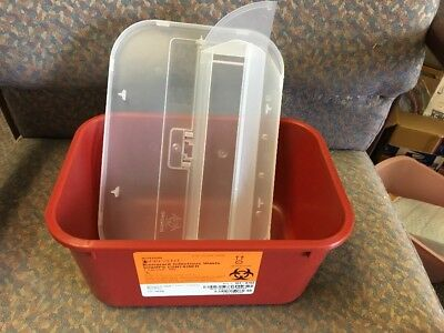 McKesson SHARPS~BIOHAZARD~ Stackable Collection Sharps Container 1~Gallon