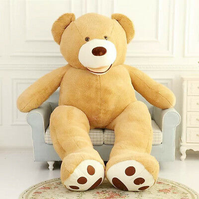 "New 79"" 200cm PROMO Giant Teddy Bear Cover Big HUGE Toy Birthday Gift"