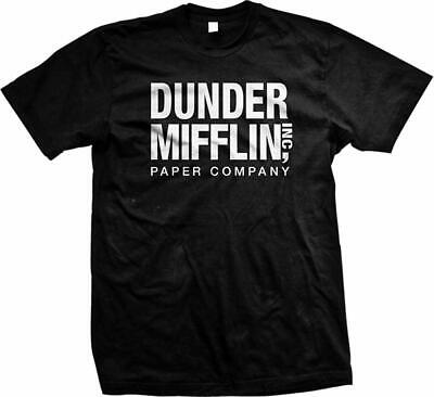 The Office TV Show Dunder Mifflin Paper Men's T-Shirt White Print Schrute Farms