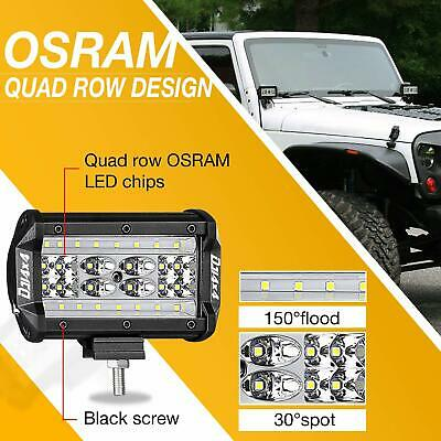 "2PC 5"" 84W LED Work Light Bar Flood Spot Beam Offroad 4WD SUV Driving Fog Lamp"