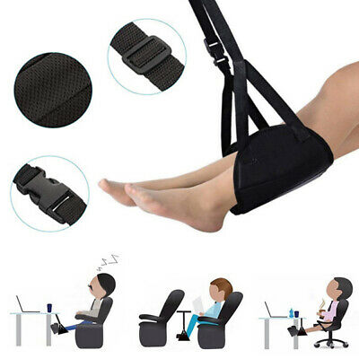 Portable Travel Airplane Foot Rest Nylon Memory Foam Adjustable Height Hammock