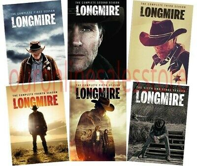 Longmire TV Series Complete All 1-6 Seasons DVD Set Collection Episodes Westerns