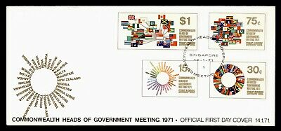 Dr Who 1971 Singapore Heads Of Government Meeting Fdc C81769