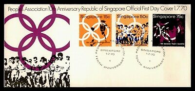 Dr Who 1970 Singapore People's Association 10Th Anniversary Fdc C81770