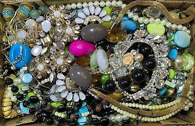 Huge Vintage - Now Jewelry Lot Estate Find Junk Drawer UNSEARCHED UNTESTED #147