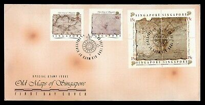 Dr Who 1989 Singapore Old Maps Fdc Block C82006