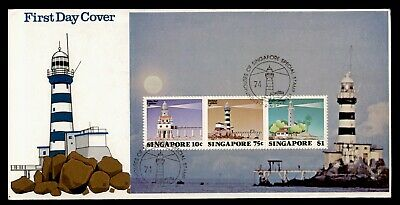 Dr Who 1982 Singapore Lighthouse S/s Fdc Pictorial Cancel C82070