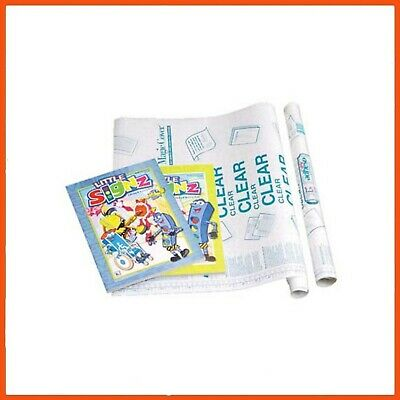 48 x CLEAR ADHESIVE BOOK COVER 1.37 mt | Plastic Book Cover Film Cover Protector