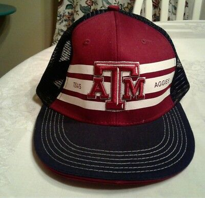 7bef34ef5dc Texas A M Aggies Snapback Hat Adjustable black Mesh Cap maroon embroidered  NCAA