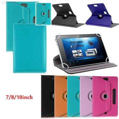 "173C 360° Rotating Universal Leather Stand PU Case Cover For 7""- 10"" inch Tablet"