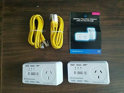 Netcomm Wireless 500Mbps Powerline Adapter with AC Pass-through NP505F