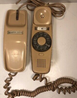 Bell System Western Electric Rotary Dial Trimline Beige/Tan Desk Phone