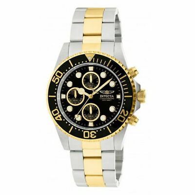 Invicta Pro Diver Men's Chronograph Two Tone Stainless Steel 43mm Watch 1772