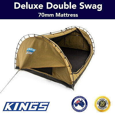 Canvas Camping Tent Double Swag Deluxe Kings Big Daddy Hiking