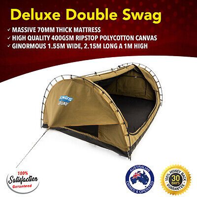 New Big Daddy Deluxe Double Swag Tent Camping Canvas Hiking Kings