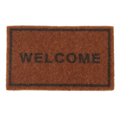 Miniature Welcome Floor Rug Carpet Area Woven Rug For 1:12 Dollhouse Furniture