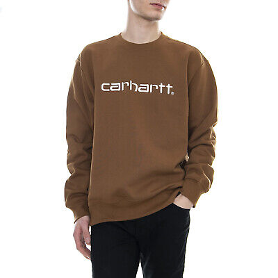 e1b4f73294d4 Carhartt Carhartt Sweat Hamilton Brown White - Felpa Girocollo Uomo Marrone