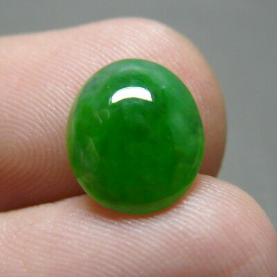 RECOMMEND MINI 2.75 ct Genuine Jadeite Jade (Type A) Green-White Texture Cab