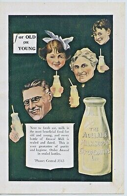 C.1930's Back Magazine Cover Advertising The Adelaide Milk Supply Co-Op S.a. W54