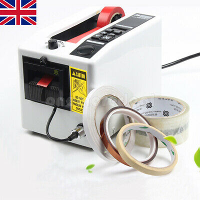 18W Electric Adhesive Automatic Tape Dispenser Cutter Packaging Machine UK SHIP